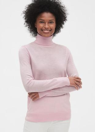 Тонкий свитер, гольф 100% шерсть мериноса