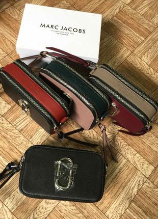 Женская сумка клатч marc jacobs марк якобс черная с коробкой