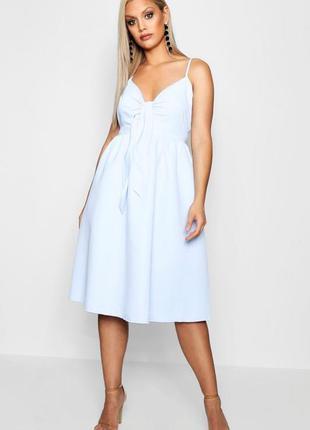 Новое роскошное платье миди с завязкой на груди 16/50-52 размера