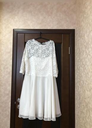 Брендовое кружевное платье большого размера миди наш 58-60 swi...
