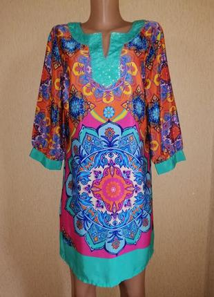 🔥🔥🔥красивое, яркое, легкое женское короткое платье, туника 16 ...