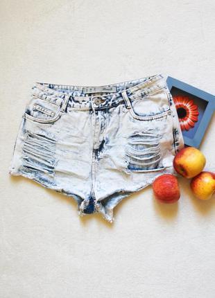 Рваные джинсовые шорты от denim co, размер l