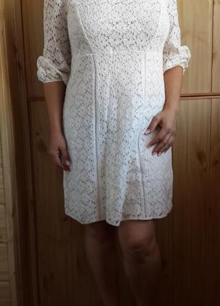 Натуральное белое платье george