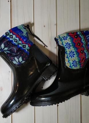 Женские резиновые утепленные сапоги,полусапоги,ботинки,для дев...