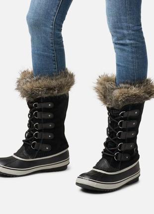 Зимние сапоги кожа замша канадского бренда sorel joan of arcti...