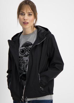 Новая женская демисезонная тонкая чёрная куртка ветровка