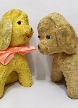 Мягкая игрушка Ссср солома плюшевая редкая собака песик щенок