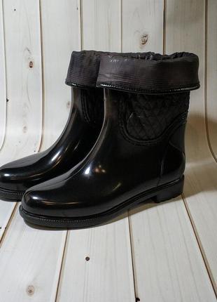 Женские резиновые утепленные сапоги,полусапоги,ботинки c отвор...