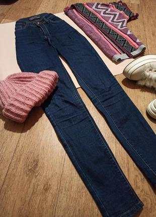 Крутые джинсы скинни высокая талия с/м
