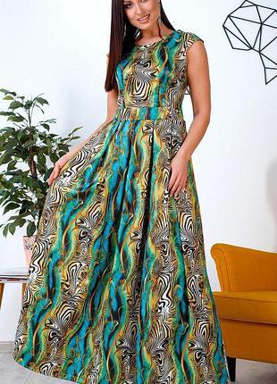 Шикарное сатиновое макси платье большие размеры