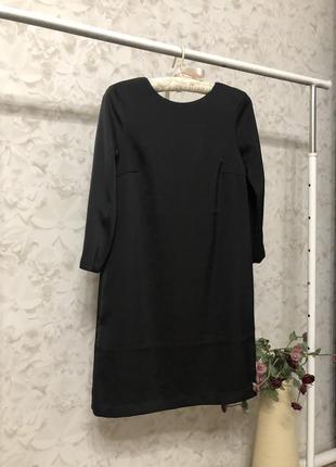 Черное сатиновое платье h&m, новое!