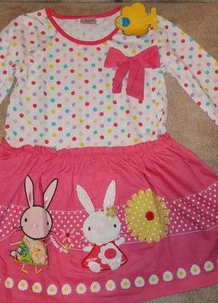 Платье neat с зайцами