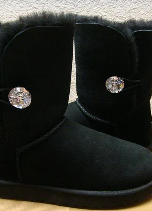 Женские угги ugg australia bailey button swarovski