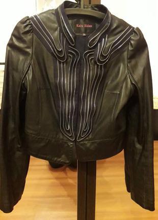 Женская кожаная куртка косуха болеро