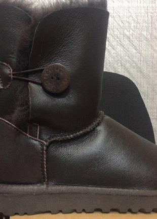 "Ugg bailey button leather ""metalic chocolate"
