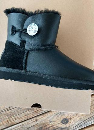 Женские угги ugg mini bailey button bling leather 36-41р.