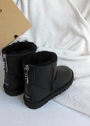 Угги ugg australia classic mini zip leather