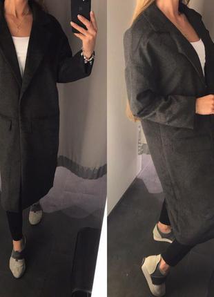 Стильное шерстяное дорогое пальто бойфренд hugo boss orange ор...