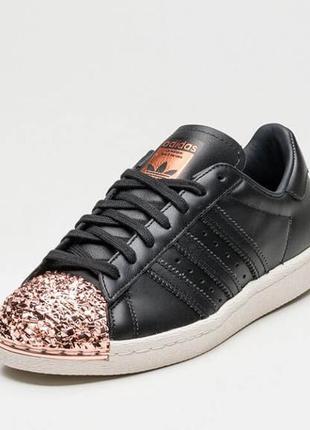 Женские кроссовки adidas superstar 80s metal toe black