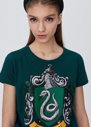 Новая зеленая футболка польша harry potter slytherin гарри пот...
