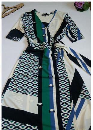 Платье нарядное 44 46 размер миди top vip с рукавом офисное по...