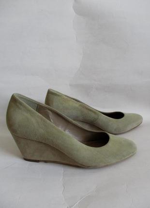 100% кожа! замшевые туфли на танкетке minelli