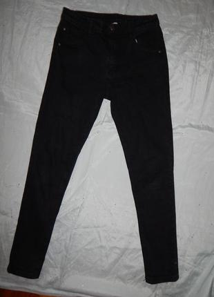 George джинсы стильные модные на мальчика 13-14 лет чёрные