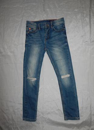 Next джинсы стильные модные skinny на мальчика 8 лет рост 128