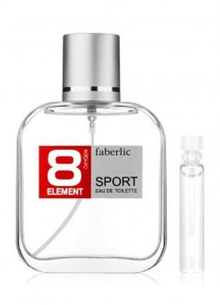 Пробник туалетной воды для мужчин 8 element sport faberlic 348...