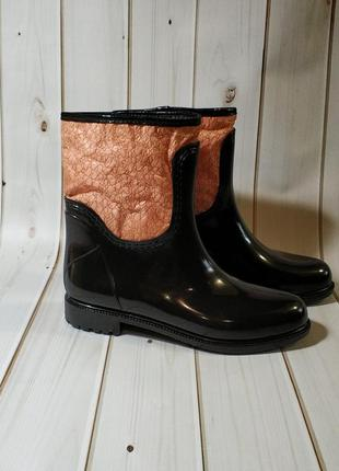 Утепленные женские резиновые сапоги,полусапожки,ботинки,см.опи...