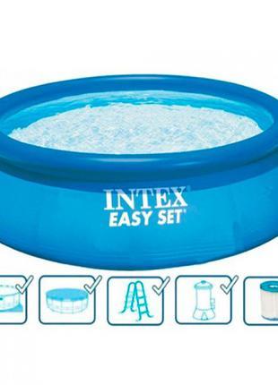Бассейн семейный надувной INTEX 26176, размер 549-122см ,фильтр-н