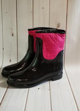 Утепленные женские резиновые сапоги,полусапожки,ботинки,обувь ...