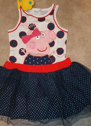 Платье свинка пеппа nova, neat