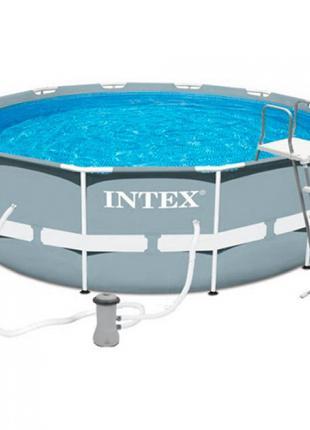 Каркасный бассейн Intex 26716, размер 366-99 см,фильтр-насос, лес