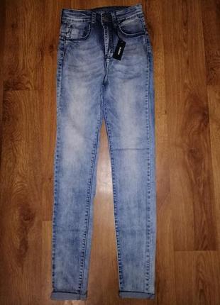 🌷🌷🌷стильные новые женские зауженные джинсы с высокой посадкой ...
