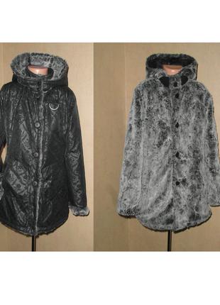 Зимняя двусторонняя куртка kenzo на 10-12 лет в идеале