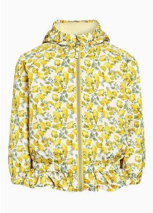 Ветровка, дождевик, плащ, легкая куртка next в лимонах на 1,5-...