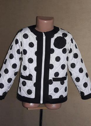 Ветровка, пиджак утепленный  на 4-6 лет на флисовой подкладке
