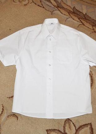 Рубашки белые школьные bhs р. 7 лет 122 см на плотных мальчиков.