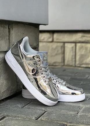 Nike air force 1 low metallic silver