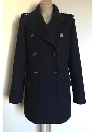 !!!распродажа!!! в наличии - темно-синее пальто в милитари сти...