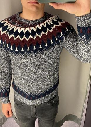 Тёплый вязаный свитер smog есть размеры