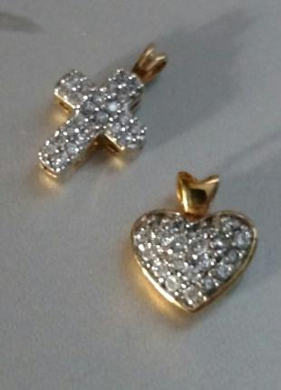 Подвески: крестик, сердце Energetix (магнитные)Новые.