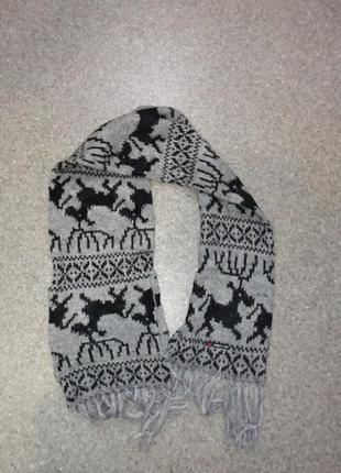Новый большой шерстяной шарф