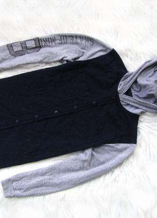 Стильная рубашка кофта реглан с капюшоном primark