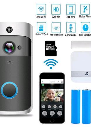 Eken V5 дверной звонок с Wi-Fi-камерой и он-лайн доступом с телеф