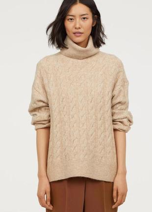 Свитер пуловер гольф водолазка h&m премиум новая коллекция мод...