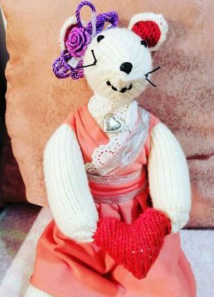 Мышка-принцесса. Подарок на День Святого Валентина.
