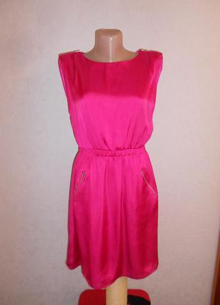 Распродажа! легкое платье цвета фуксии, р.м