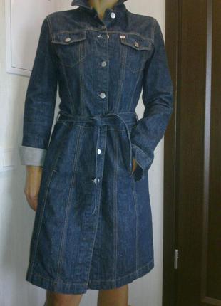 Джинсовое пальто miss sixty.